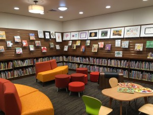 The new children's room in the renovated Woodside Library.