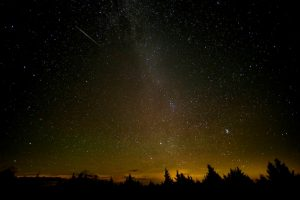 Perseids Aug. 12, 2016, Spruce Knob, WV. Source: Bill Ingalls, NASA.