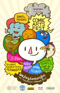 Poster for Comic Arts Fest 2017.