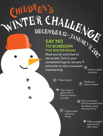 Children's Winter Challenge Log