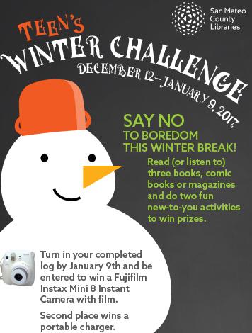 Teen's Winter Challenge Log
