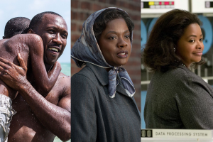 Mahershala Ali in Moonlight, Viola Davis in Fences, and Octavia Spencer in Hidden Figures.