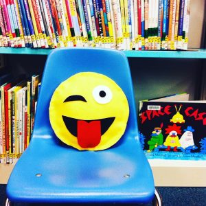 Photo of a DIY emoji pillow. Source: Karen Choy.
