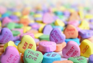 Photo of Valentine's Day heart candies. Source: Laura Ockel, Unsplash/CC0