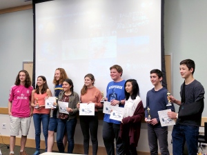 Teen Film Festival high school winners.
