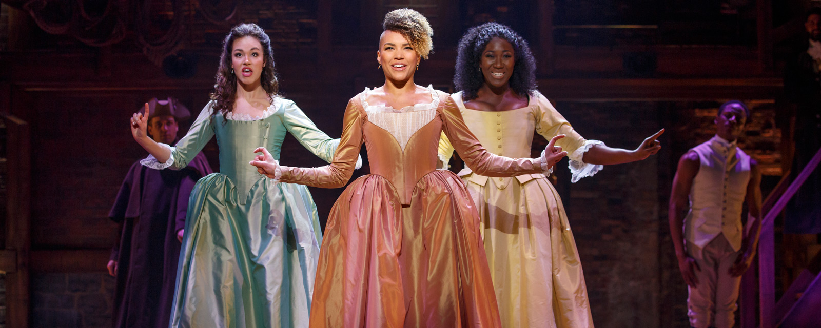 The Schuyler Sisters in the San Francisco production of Hamilton.