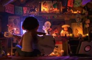 A still from the Disney Pixar movie Coco.
