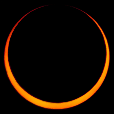 Partial eclipse of the sun.