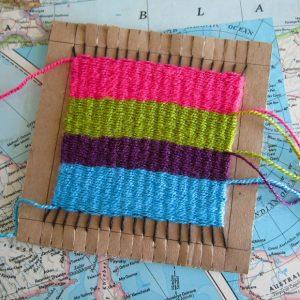 Weaving sample craft.