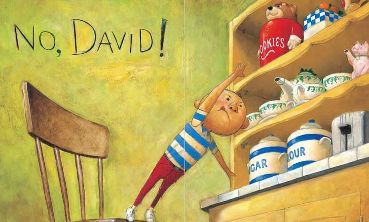 Illustration from on of David Shannon's No David! book.