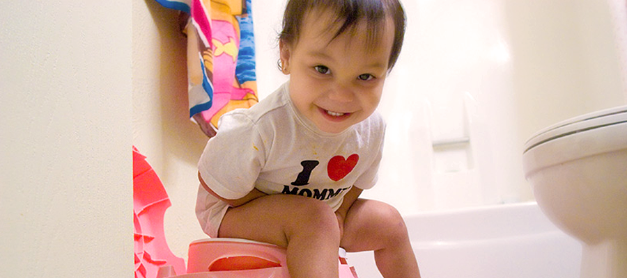 Child using the potty.