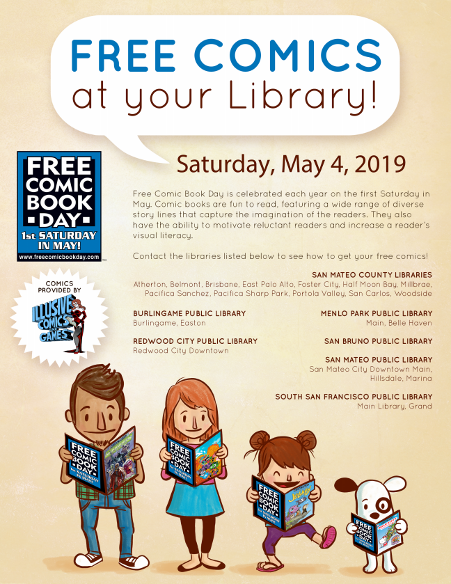 FREE Comics at your Library poster.